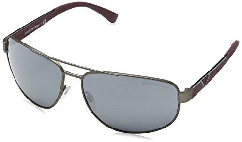 Emporio Armani Herren 0EA2036 31306G 64 Sonnenbrille, Grau (Grey Black)