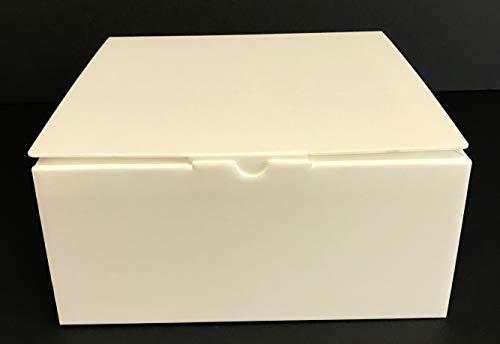 LAMINIL Cajas para Tartas, Dulces y pastelería isotérmicas Isolambox. Juego de 5 Cajas de 26 x 26 x 12 cm, Grosor 2 mm, automontantes con Acabado en Papel Kraft