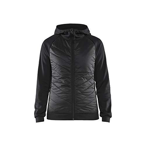 Blaklader 346425269998L - Sudadera híbrida para mujer, color negro y gris oscuro, talla L