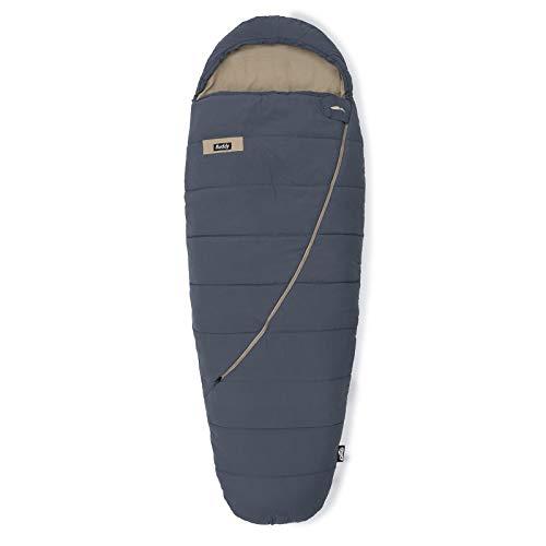 Qeedo Buddy Schlafsack in Eiform, Mumienschlafsack für Damen und Herren, extra breit, grau