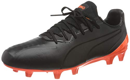 PUMA King Platinum FG/AG, Zapatillas de fútbol Hombre, Negro Black/Shocking Orange, 43 EU