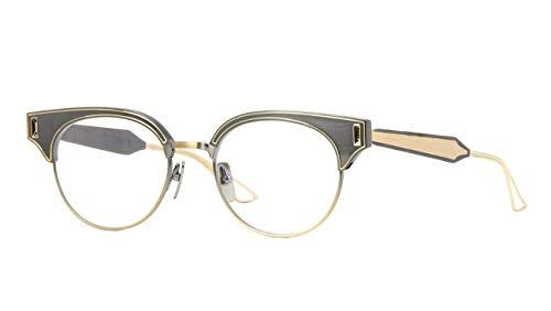 Dita Brixa DTX109-51-02A Eyeglass Frame Antique Silver - Antique Yellow Gold w/Clear Demo Lens 51mm