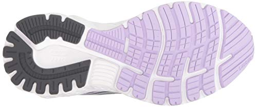 Brooks Womens Adrenaline GTS 19 Running Shoe - Grey/Lavender/Navy - B - 9.5 2