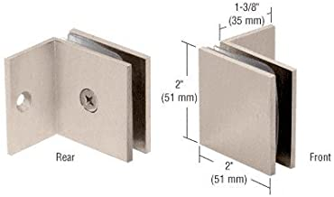 CRL Brushed Nickel 90 Degree Wall Mount Heavy-Duty Glass Clamp