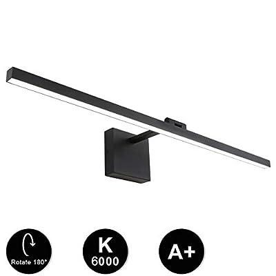 Ralbay 31.5 Inch 18W Modern LED Black Vanity Light Fixtures for Bathroom Lighting Aluminum Rotable 180° Cool White Light 6000K