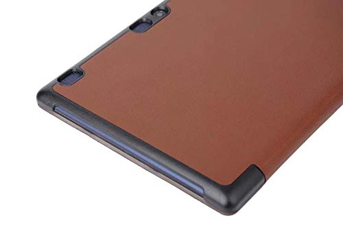 Cubierta para Tablet PC Lenovo TAB2 A10-70f, Patrón de Custer Ultrafino de Tres Pliegues de Voltaje-Blanco