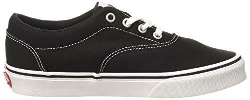 Vans Doheny, Zapatillas para Mujer, Lienzo Negro Blanco 187, 37 EU