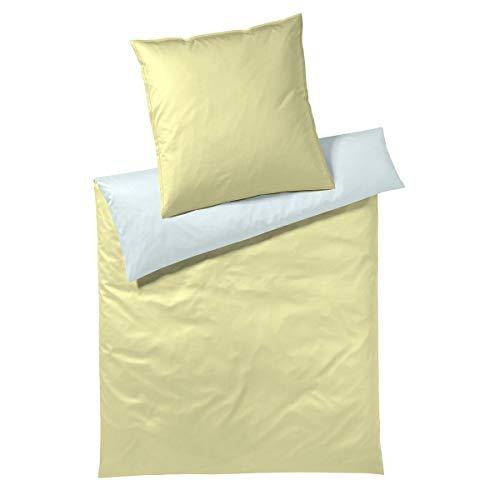 elegante Mako-Batist Bettwäsche Softie Sun 1 Bettbezug 135 x 200 cm + 1 Kissenbezug 80x80 cm