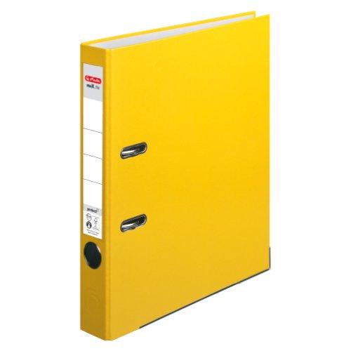 Herlitz 5451307 Ordner maX.file protect (A4, 5 cm, mit Einsteckrückenschild) gelb