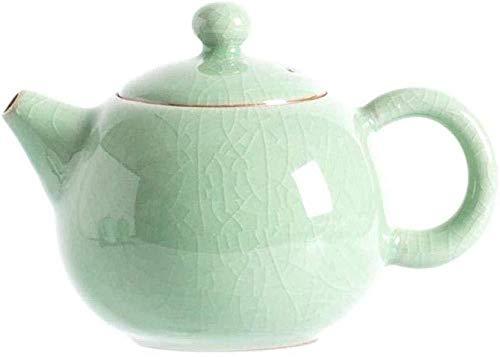 Yruog Tetera Tetera de cerámica Teteras Tetera de cerámica Tetera con filtro Hervidor_Tea Pot Longquan Celadon Ball Filtro Hervidor de agua Cerámica