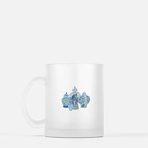 Frosted Chinoiserie Blue and White Ginger Jars Mug -  Mon Petit Bijou by Dawne