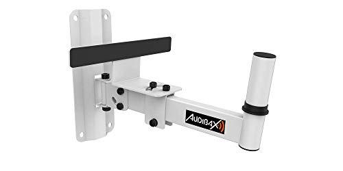 Audibax , Neo 20 White , Soporte de Pared para Altavoz , Vaso 35 mm , Color Blanco , Movimiento Inclinable y Lateral , Soporta hasta 35 kg , Uso Profesional , Sencilla Instalación , Fabricado en Acero