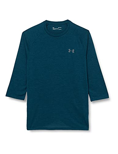 Ua Tech 3/4 20 - Camiseta de manga larga, Hombre, 1328191-489, Techno Teal/Graphite, X-Large