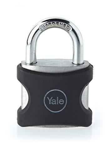 Yale YE3/38/119/1/BK Aluminium Padlock, Black, 36mm, suitable for luggage