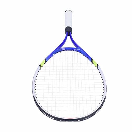 Surebuy Raqueta De Tenis, Entrenamiento del Tenis De La Manija De La PU del Marco De La Aleación De Aluminio para El Deporte para Entrenar(Azul)