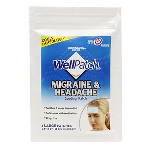 WellPatch Cooling Headache Pads, Migraine 4 Pads in a Pack. (Pack of 6)= 24pads