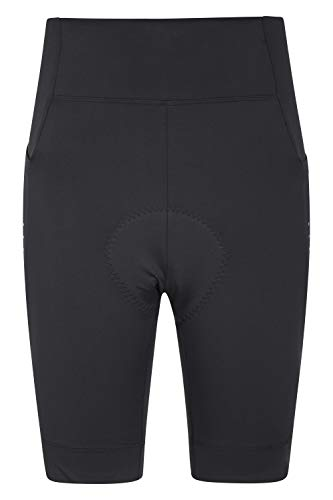 Mountain Warehouse PRO Womens Cycling Shorts - Chamois Padding, Quick Wicking, Ultimate Opacity Ladies Short Pants - Best for Summer, Bike Rides, Triathlons & Outdoors Nero 42