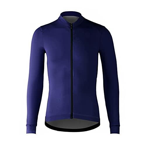 Jersey de Ciclismo para Hombre Cremallera Larga para Hombre Mangas largas Ciclismo Jersey Bicycle MTB Camisa de Bicicleta Alta transpirabilidad Elástica Maillot de Ciclismo para Hombre
