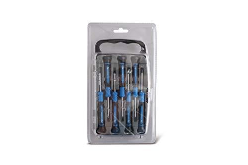 HÖGERT HT1S270 Tournevis de Précision Bleu/Noir 1.5 2 PH00 PH0 T5 T6 Torx T7 50mm