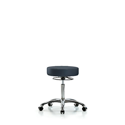Vinyl Medium SEAL limited product Bench Height Stool Base Casters Chrome I Challenge the lowest price -