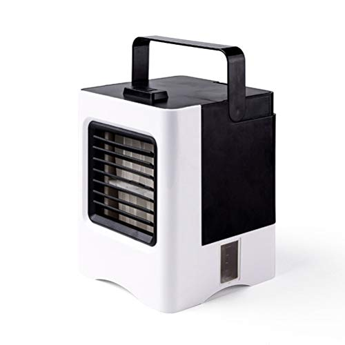 LYRWISHJD Mini Portable Air Cooler Air Conditioner Fan Noiseless Evaporative Air Humidifier Personal Space Air Conditioner 3 Speed For Office Cooler Bedroom