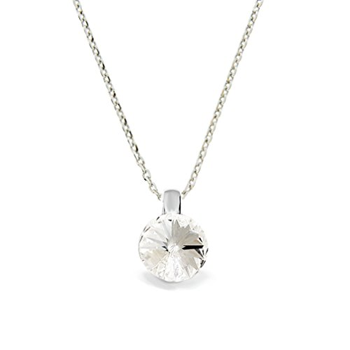 Ana Morales Exklusive Swarovski® Kristalle Damen-Kettenanhänger 925 Sterling Silber mit Silberkette 47cm