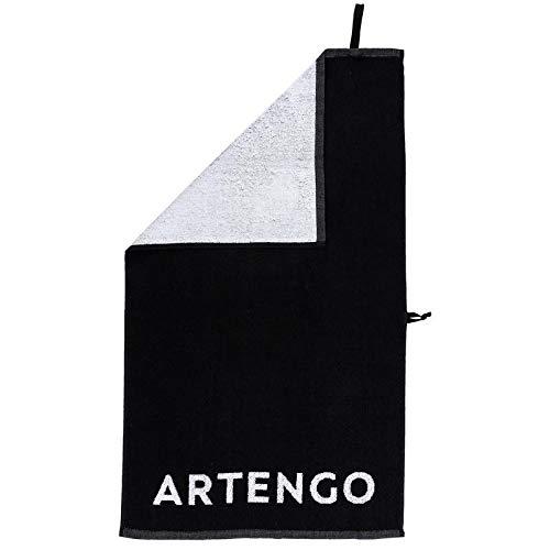 Artengo Tennis Handtuch TS 100 - Schwarz/Weiß Schwarz Unique Größe