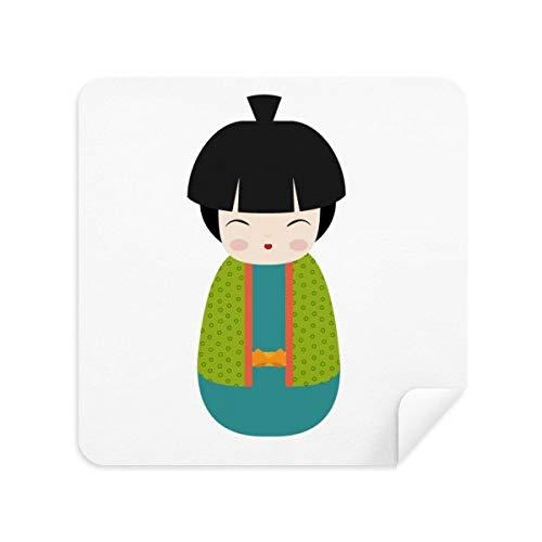 DIYthinker groene Kimono pop kunst Japan bril schoonmaken doek telefoon scherm reiniger Suede stof 2 Stks