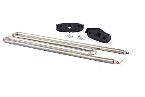DREHFLEX - WA-HZG101 - Heizung/Heizelement/Heizwiderstand für diverse Miele Waschmaschinen - für Teile-Nr. 6260483 mit 2100 W inkl. 2 Dichtung