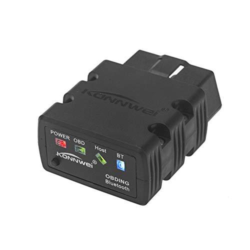KONNWEI KW902 Bluetooth Automotive Diagnosegerät, Auto Fehler Detektor Diagnose Scanner Werkzeug, Messen Sie den Kraftstoffverbrauch, Echtzeit Fahrzeug Leistung Anzeige, Schalten Sie die MIL aus