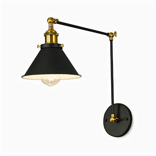 XIAOTIAN wandlampen, bevestiging met stekkerkabel aan/uit schakelaar bevestiging, E27 verstelbare schommel lange arm wandlamp