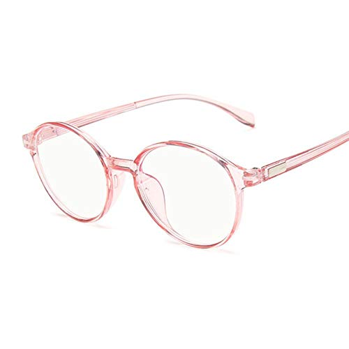 Boner Ronde Brillen Damesmode Cat Eye Brilmontuur Dames Transparant Nepbril Leuk Helder Brilmontuur, Trans Roze