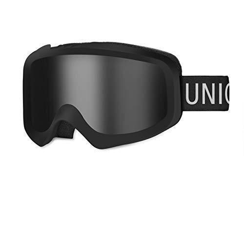 Unigear Maschere da Sci, Maschere da Snowboard OTG Produzione UV412 Doppie Lenti Casco Antiappannamento Occhiali da Neve Antivento Compatibili per Donna Uomo Junior