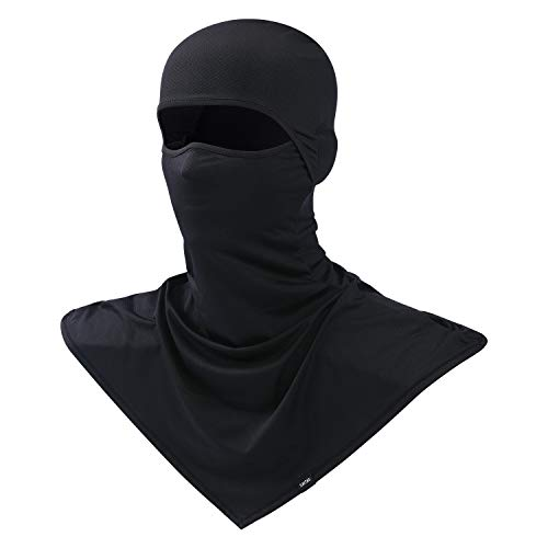 Balaclava Summer Protection Face Mask Breathable Motorcycle Hood Helmet Liners Outdoor Cycling Hiking Sports Black