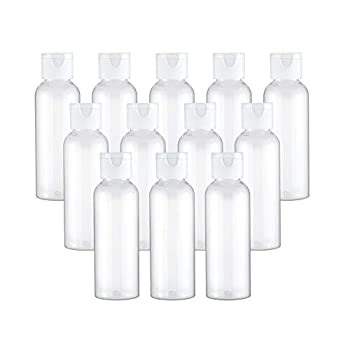 Tancano Plastic Travel Bottles Clear 3.4oz/100ml Empty Lotion Bottle Small Squeeze Bottle Containers with Flip Cap for Shampoo Conditioner Toiletries