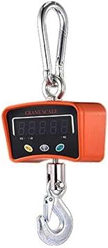 JINGJIN 500kg Colgante Industrial Pesada Mini portátil Báscula de grúa Digital de Alta precisión de con para Industrial la Granja de la fábrica,Orange