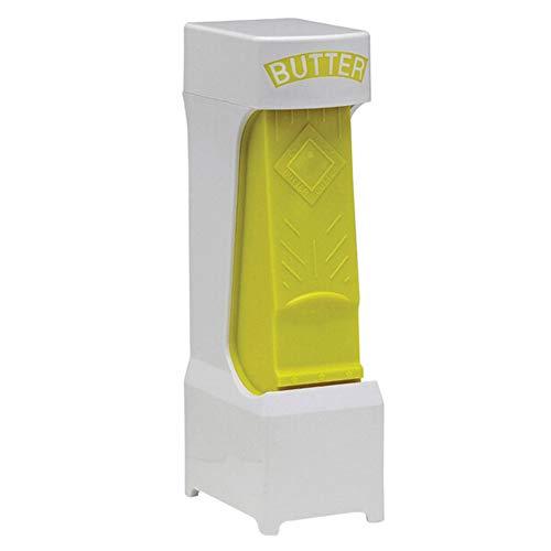 Cortador de mantequilla One Click Stick con hoja de acero inoxidable, amarillo