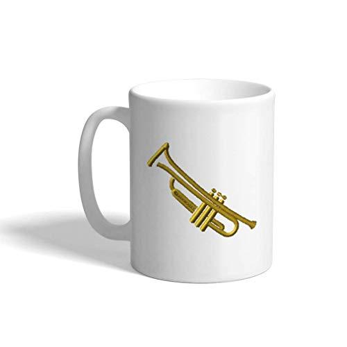 Aangepaste koffie mok 11 Oz trompetten contour dans en muziek algemene keramische thee kopje thee of koffie mok