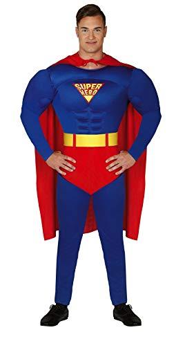 Guirca Disfraz de superhroe musculoso, para carnaval, Halloween, para nios (14/16 aos)