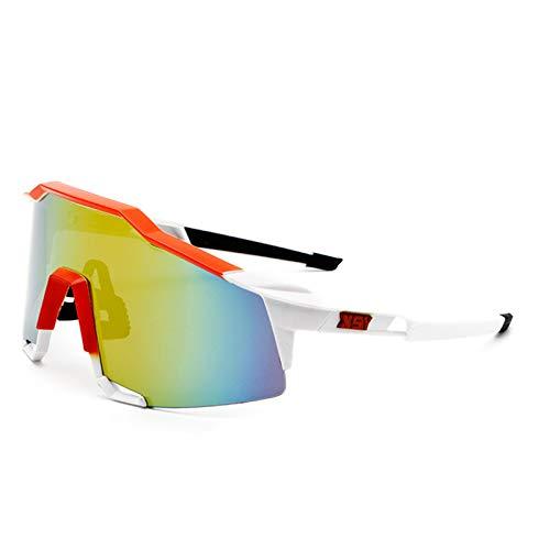 Gafas De Ciclismo para Hombres, Coloridas Gafas De Sol, Gafas De Sol, Bicicleta A Prueba De Viento, Gafas De Sol para Deportes Al Aire Libre,E