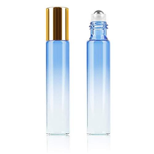 DDSP Botella de bola de perfume vacía de viaje, 10 ml, degradado, colorido, 1 unidad/10 ml, atomizador duradero (color: 01, material: vidrio)
