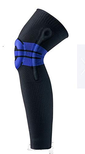 TTKD 1 par de rodilleras de silicona para soporte de resorte, baloncesto, menisco, rótula, rodillera, compresión, manga para piernas, deportes, fútbol y ciclismo (tamaño mediano)