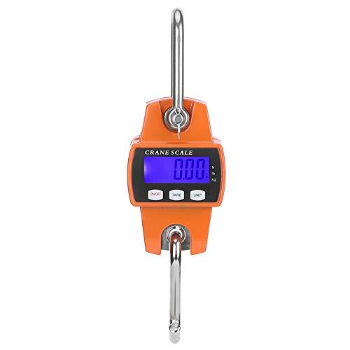 Escala de peso colgante-300KG Escala de grúa industrial LCD Escala de peso colgante de gancho electrónico digital con 300 KG para equipaje grande