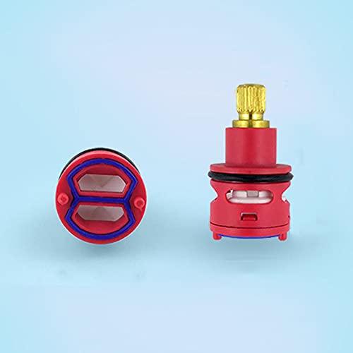 Cartucho de grifo de cerámica 22mm, válvula de control interno de reemplazo, cartucho de disco de cerámica, grifo mezclador de ducha de baño, grifo rojo