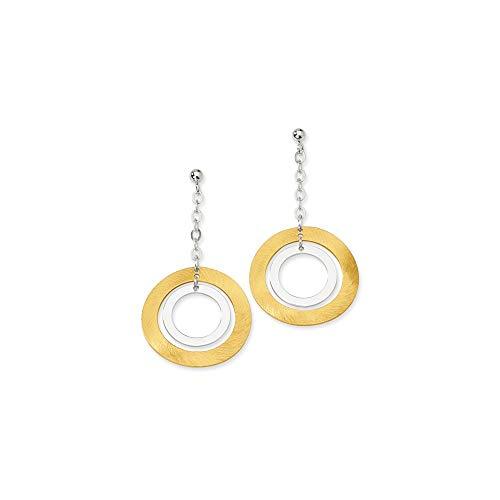 Pendientes de plata de ley 925 de 18 quilates, chapados en oro de 14 quilates, para mujer
