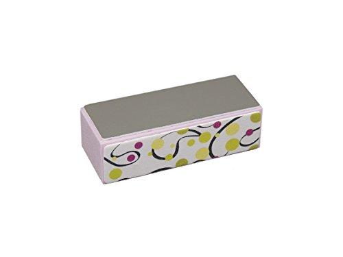 Bloc polissoir/Buffer Pink Green Points Lot de 10- Nail Design Nail kit Buffer Buffer pour les ongles en gel