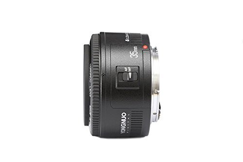 SSSabsir Yongnuo YN35mm F2 Lens 1:2 AF/MF Wide-Angle Fixed/Prime Auto Focus Lens For Canon EF Mount EOS Camera
