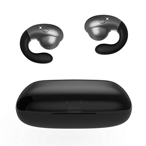 Deporte Inalámbricos Bluetooth Auriculares,AIDERLOT Inalámbricos Auriculares Semi in Ear,Control Botones,Auriculares Deportivos,Desgaste sin Dolor,60 Horas de Tiempo de Juego,para iPhone Android etc.