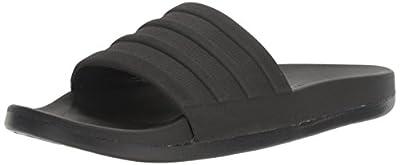 adidas Men's Adilette Comfort Slide Sandals, Black/Black, 8