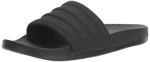 adidas Men's Adilette Comfort Slide Sandals, Black/Black, 7